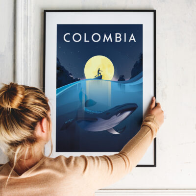 Colombia travel poster pacifico