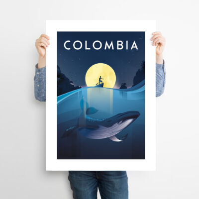 travel poster Colombia pacifico