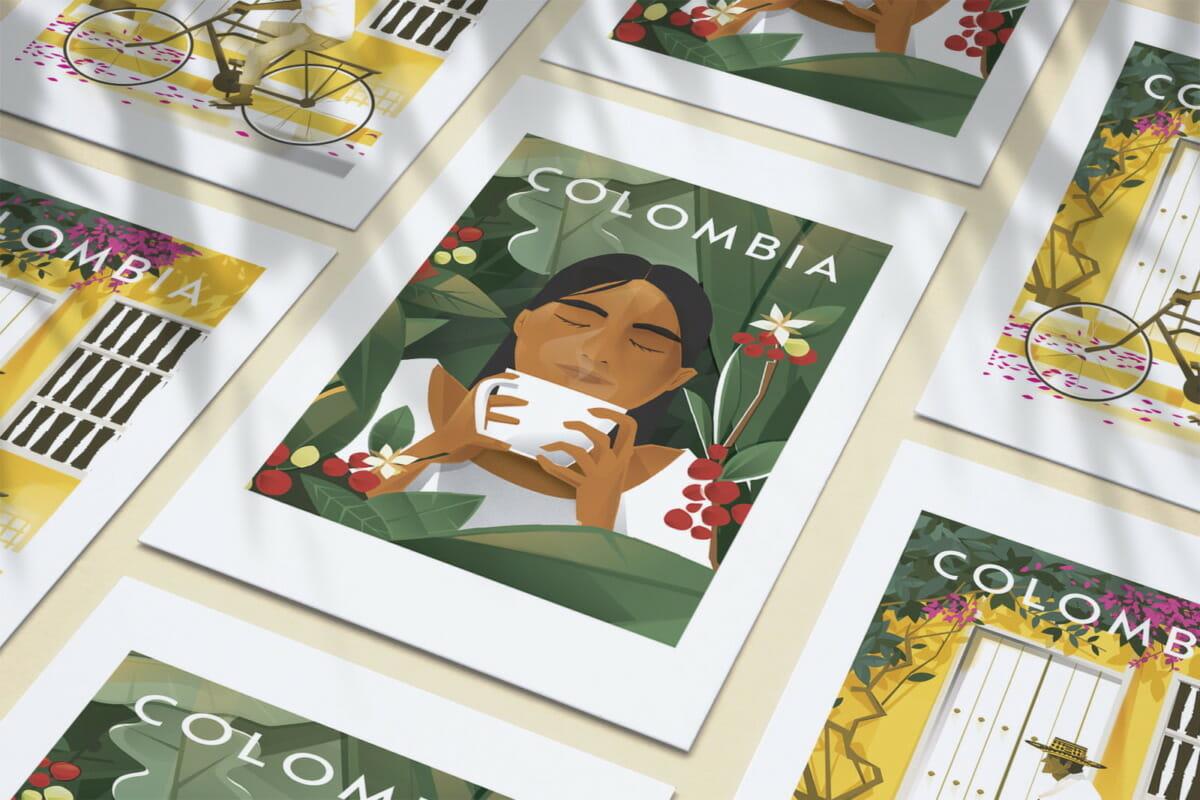 Affiches souvenir de Colombie Travel poster pour décoration maison